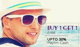 Sunglasses: Buy 1 Get 1 Free Offer + Extra 30% Cashback @ Paytm