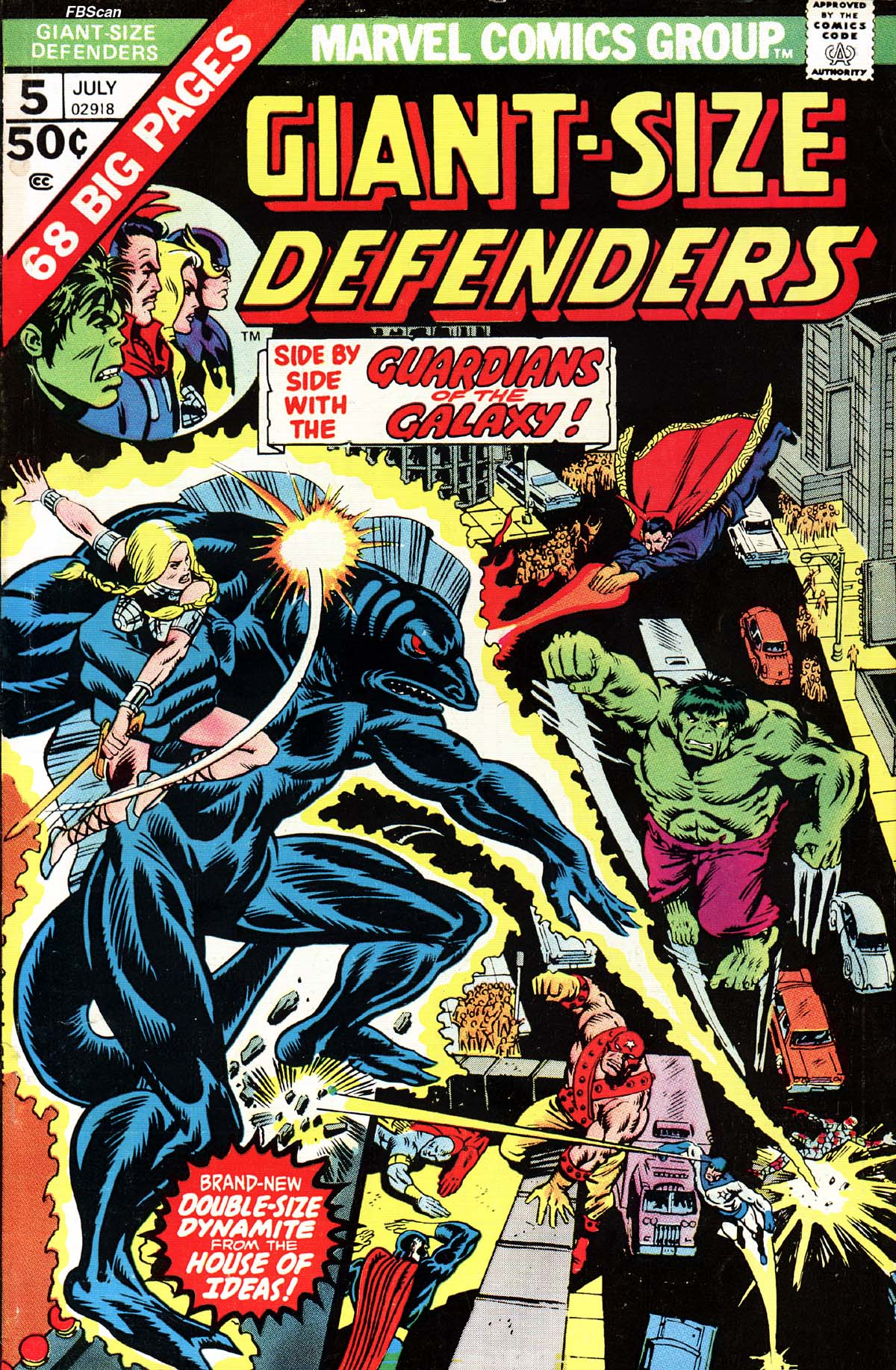 Read online Giant-Size Defenders comic -  Issue #5 - 1