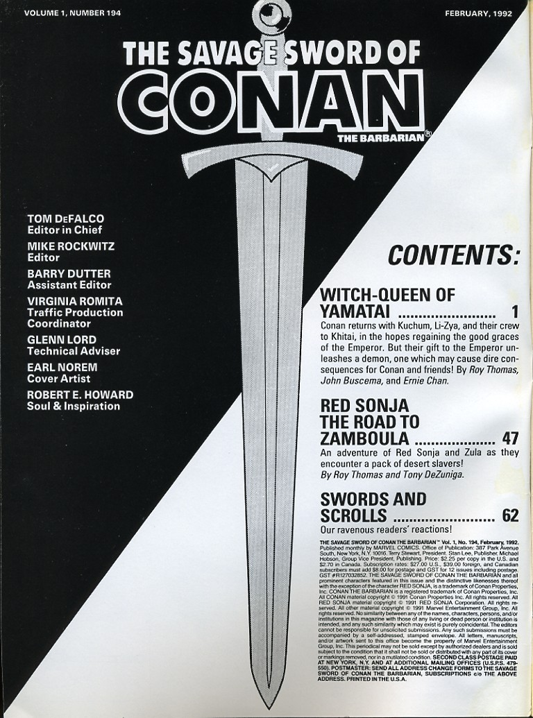 The Savage Sword Of Conan Issue #194 #195 - English 2