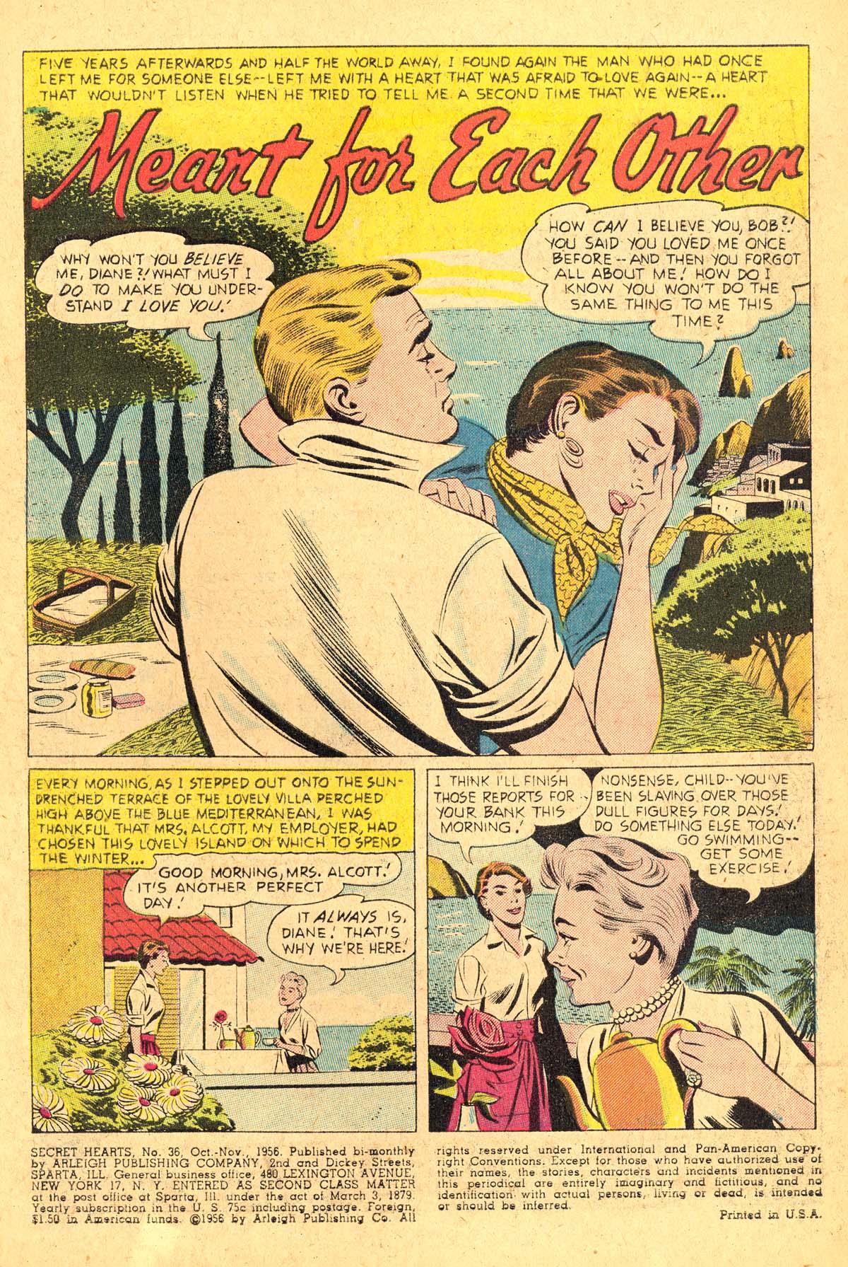 Read online Secret Hearts comic -  Issue #36 - 3