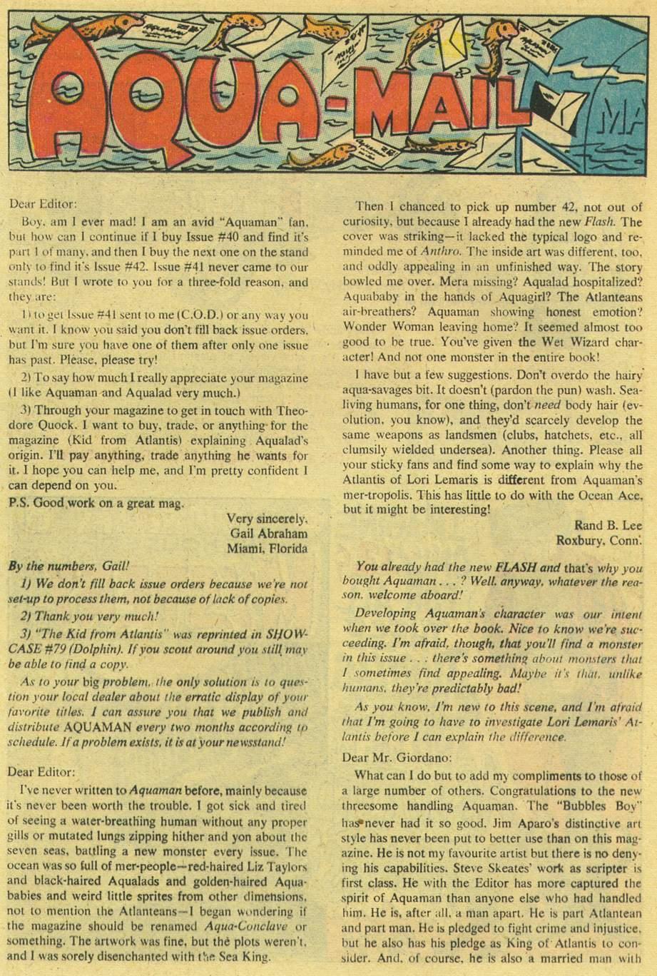 Aquaman (1962) Issue #44 #44 - English 20