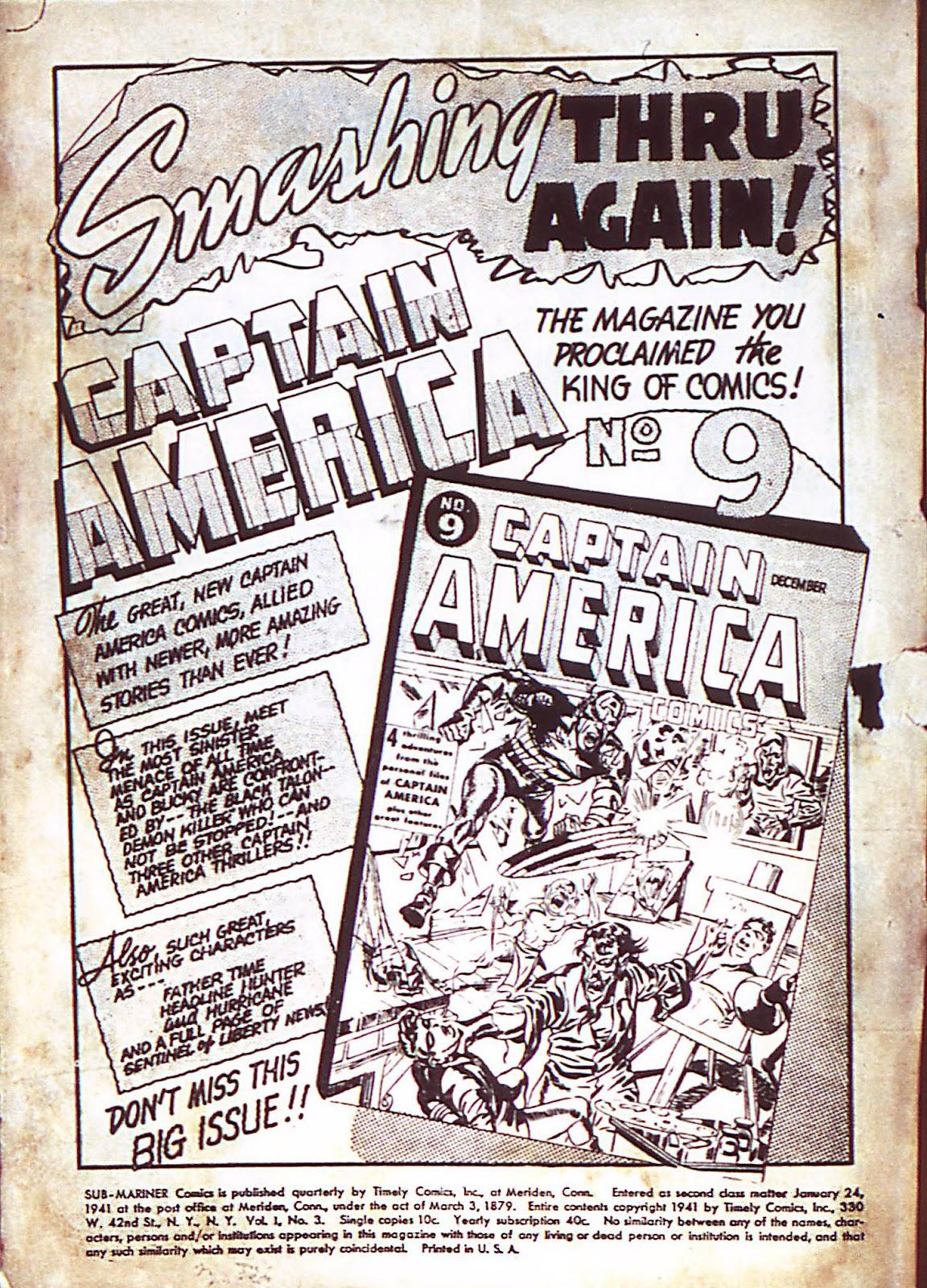 Sub-Mariner Comics Issue #3 #3 - English 3