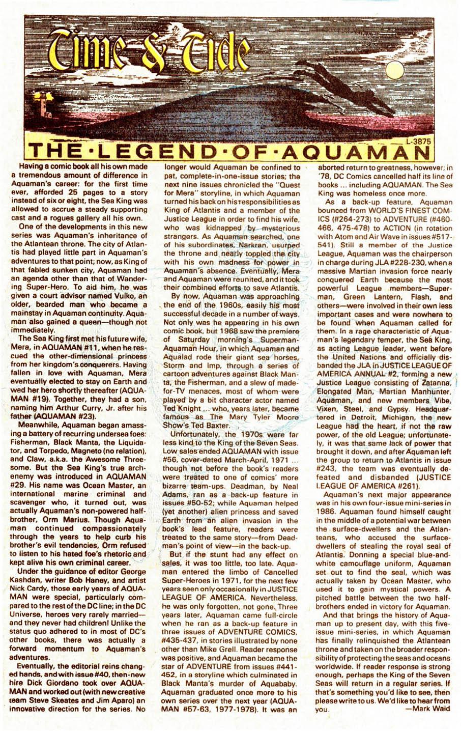 Aquaman (1989) Issue #5 #5 - English 24