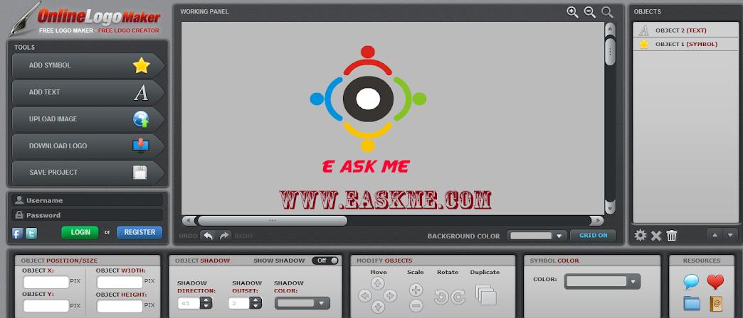 create free logo online with onlinelogomaker : easkme