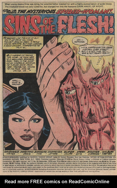 Spider-Woman (1978) #18 #33 - English 2