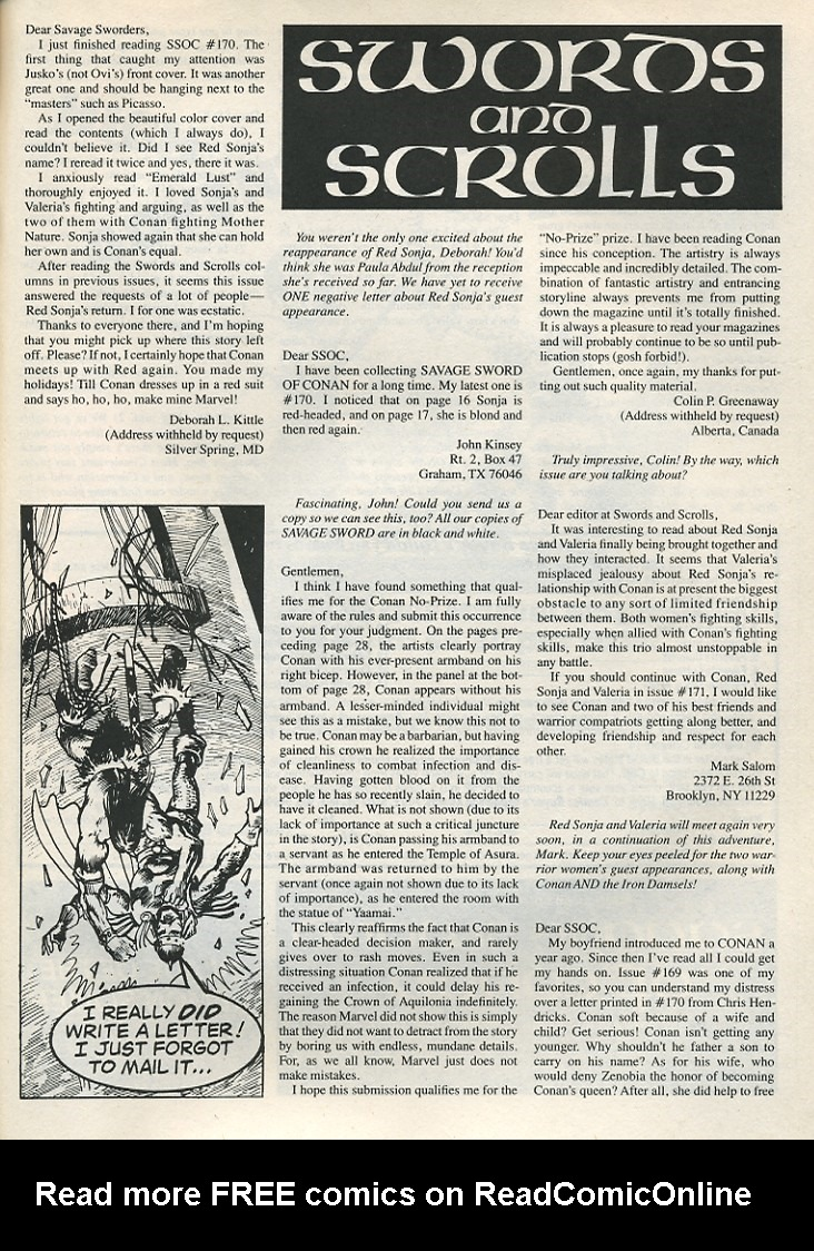 The Savage Sword Of Conan Issue #174 #175 - English 65