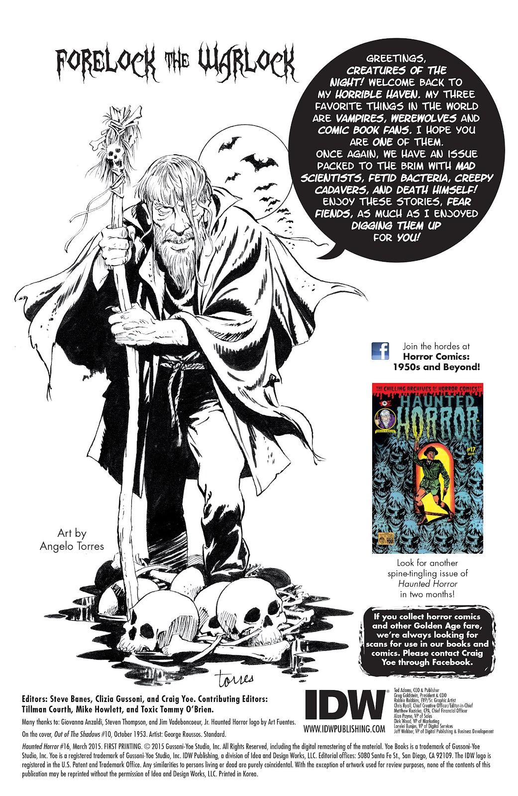 Haunted Horror Issue #16 #16 - English 2