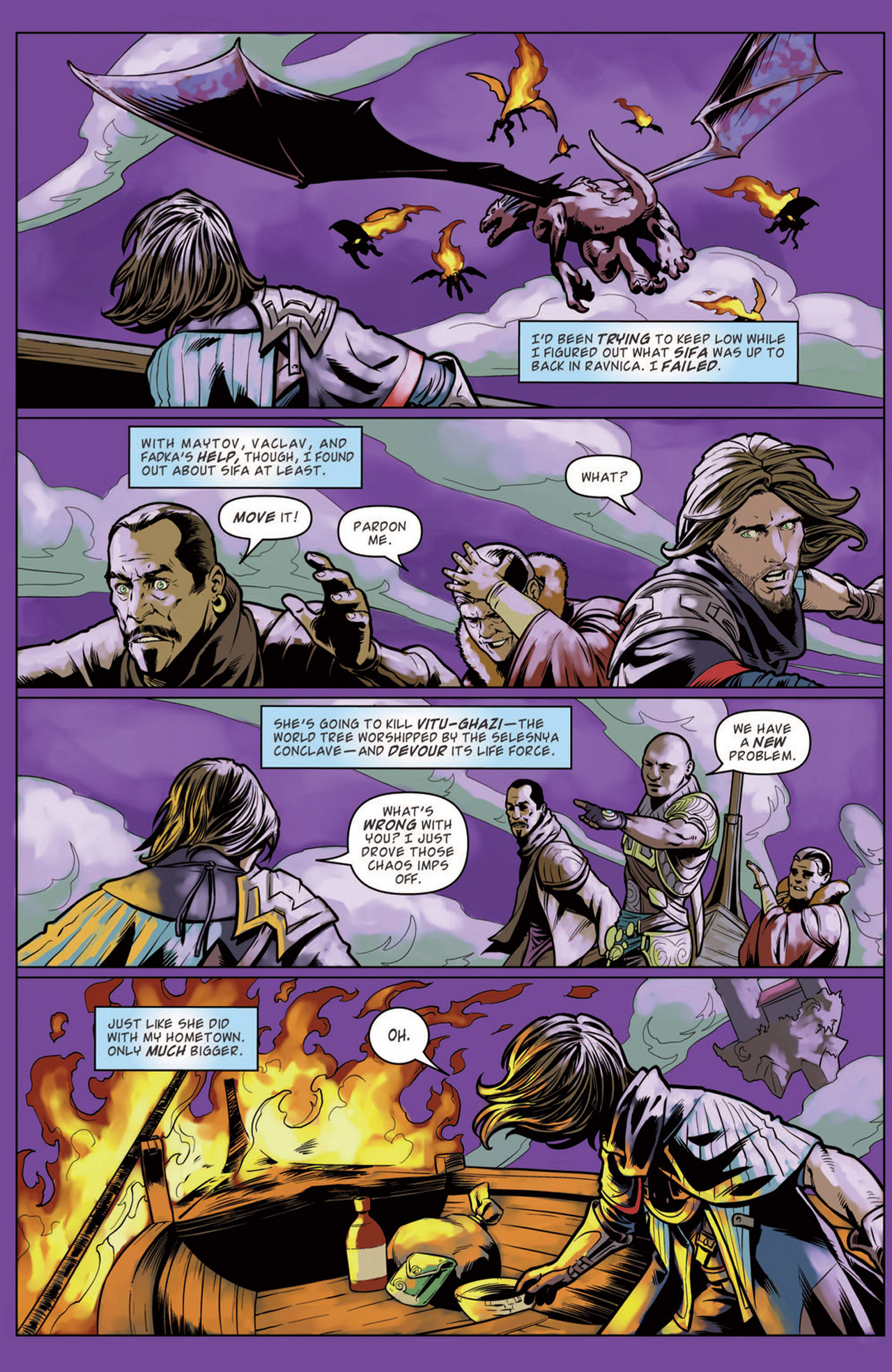 Read online Magic: The Gathering--Path of Vengeance comic -  Issue #3 - 5