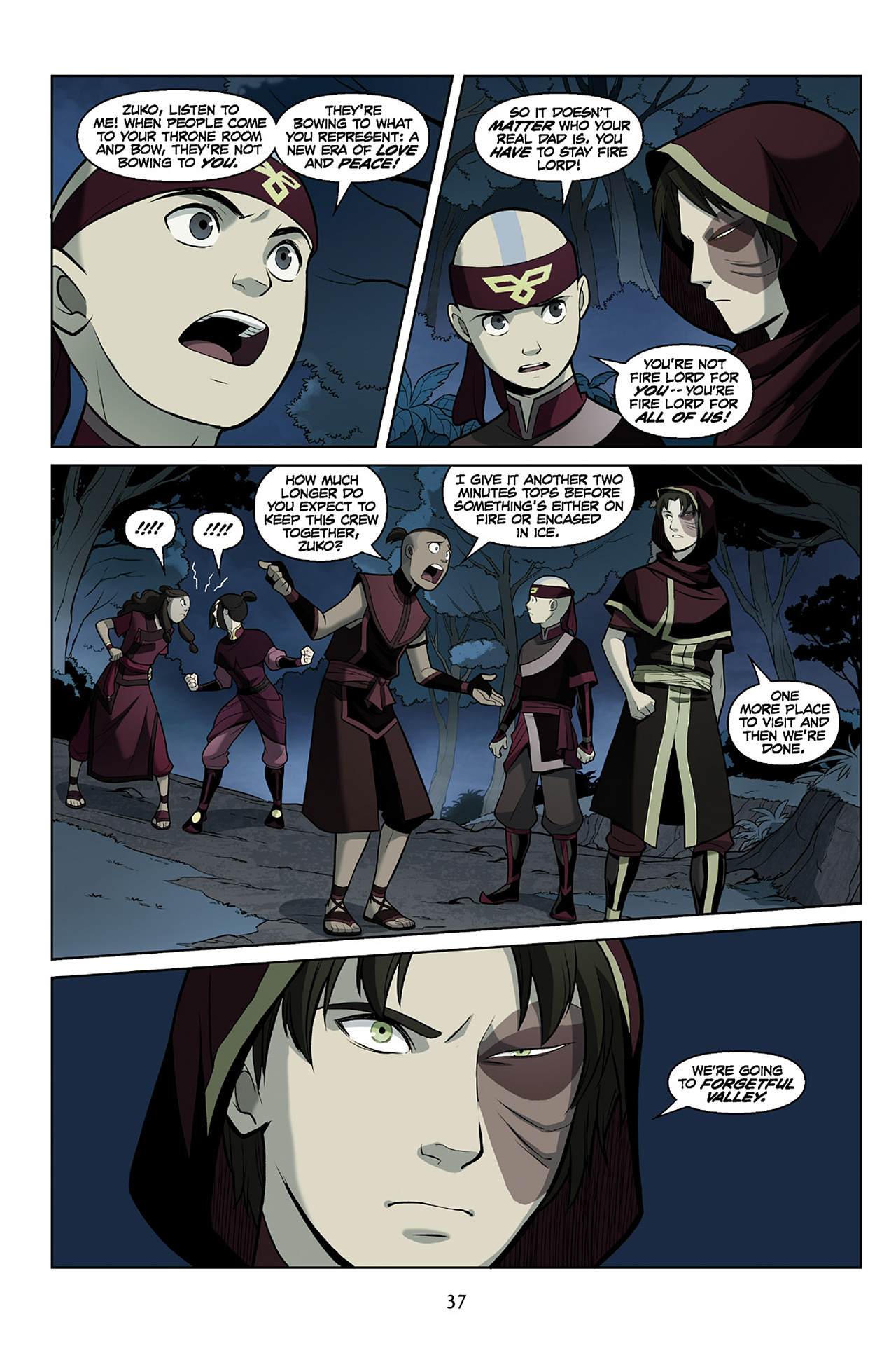 Read online Nickelodeon Avatar: The Last Airbender - The Search comic -  Issue # Part 2 - 38