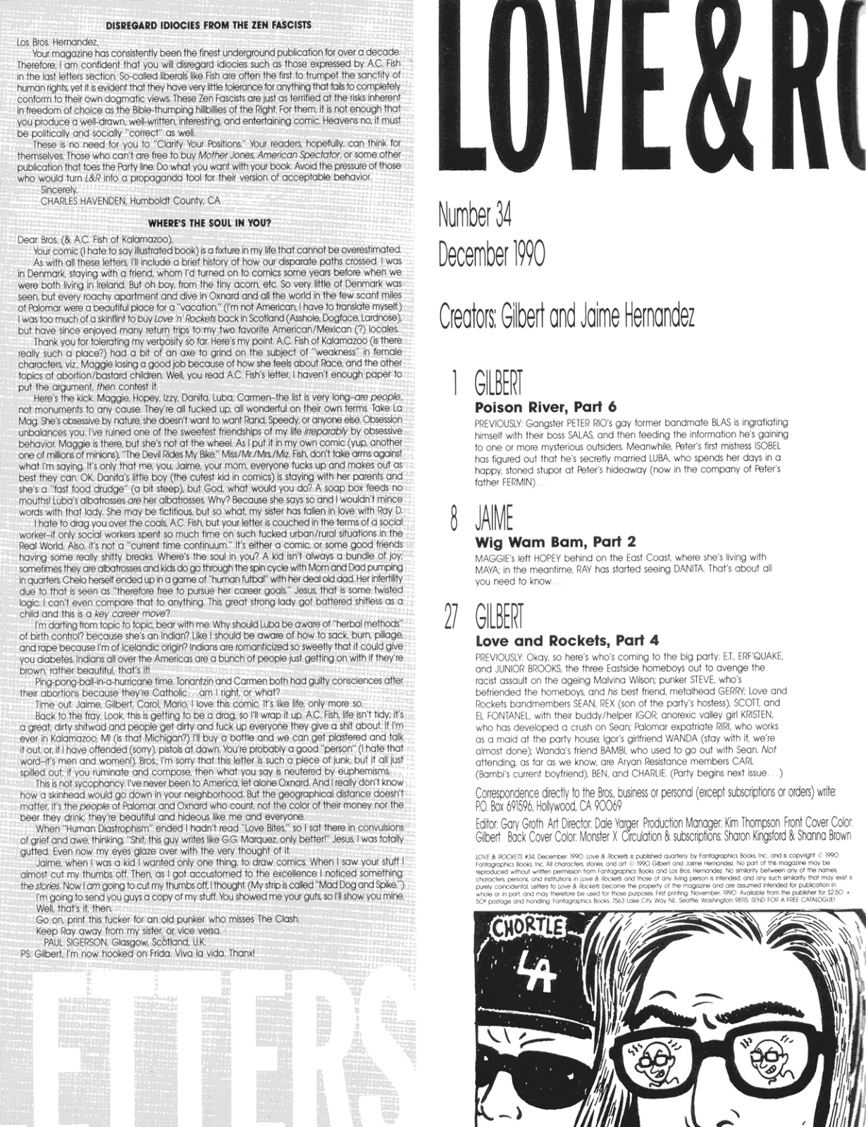 Love and Rockets (1982) Issue #34 #32 - English 2