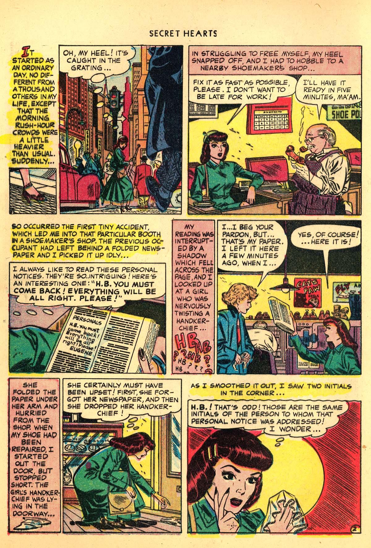 Read online Secret Hearts comic -  Issue #4 - 4