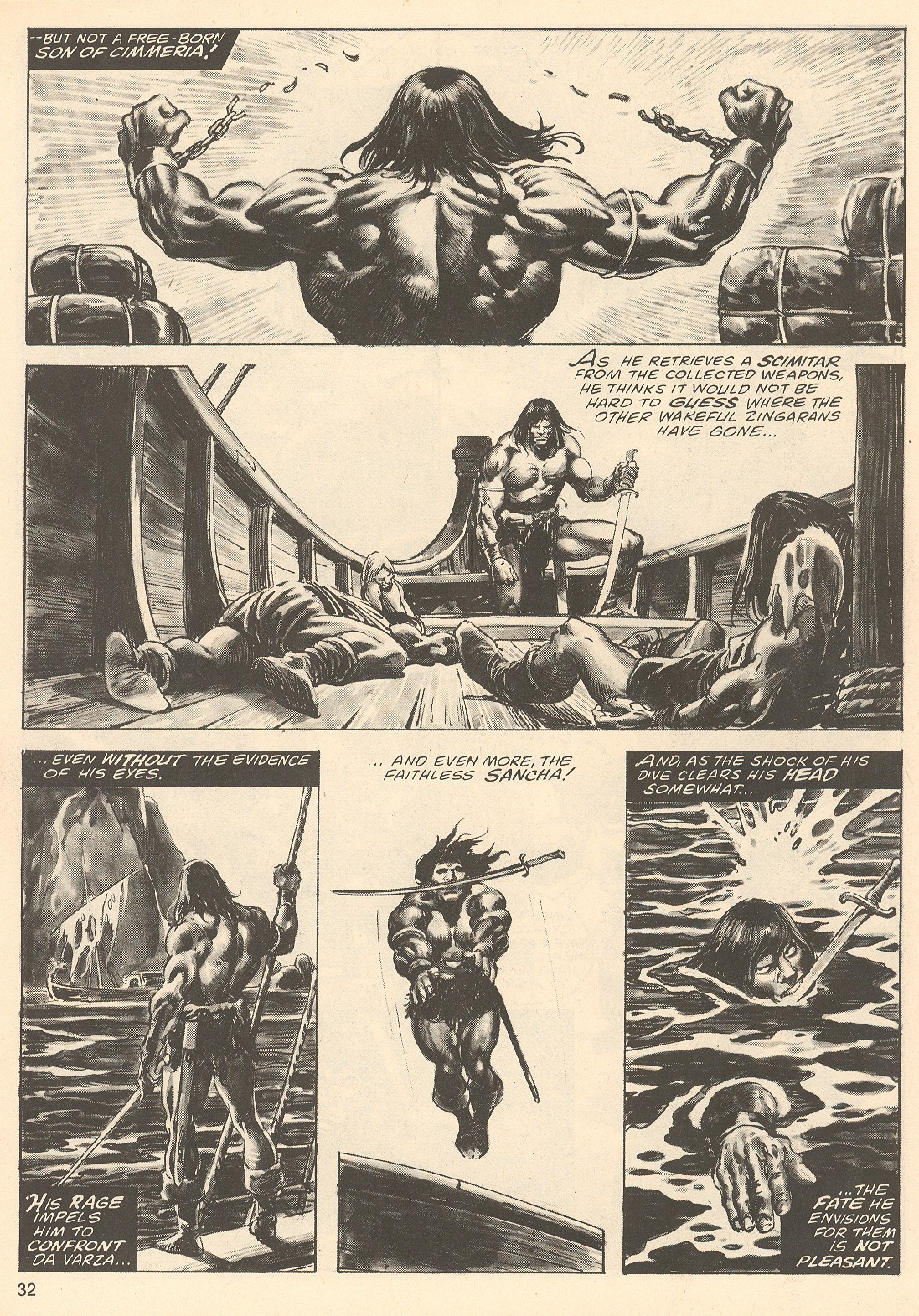 The Savage Sword Of Conan Issue #67 #68 - English 32