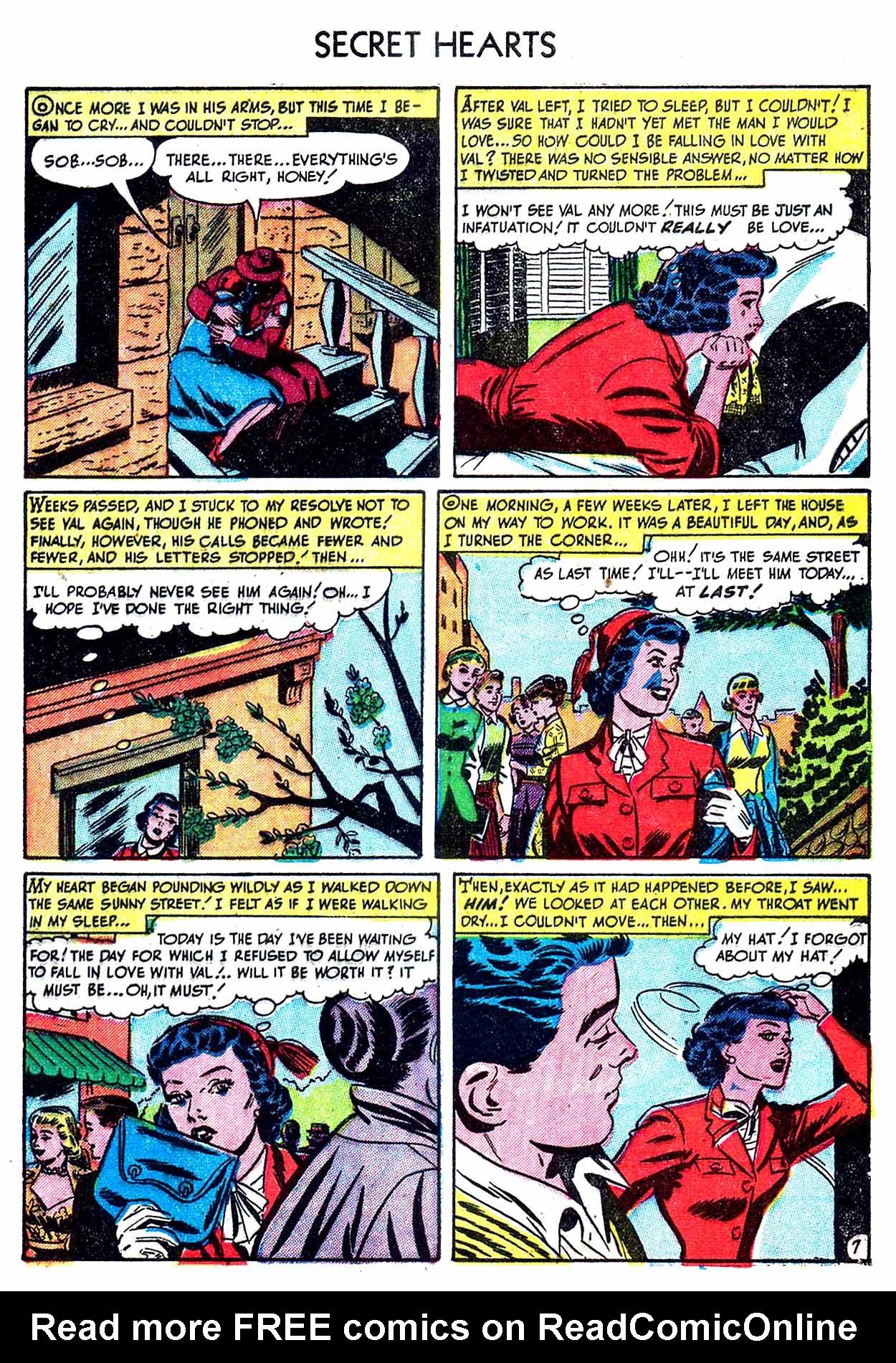 Read online Secret Hearts comic -  Issue #8 - 9