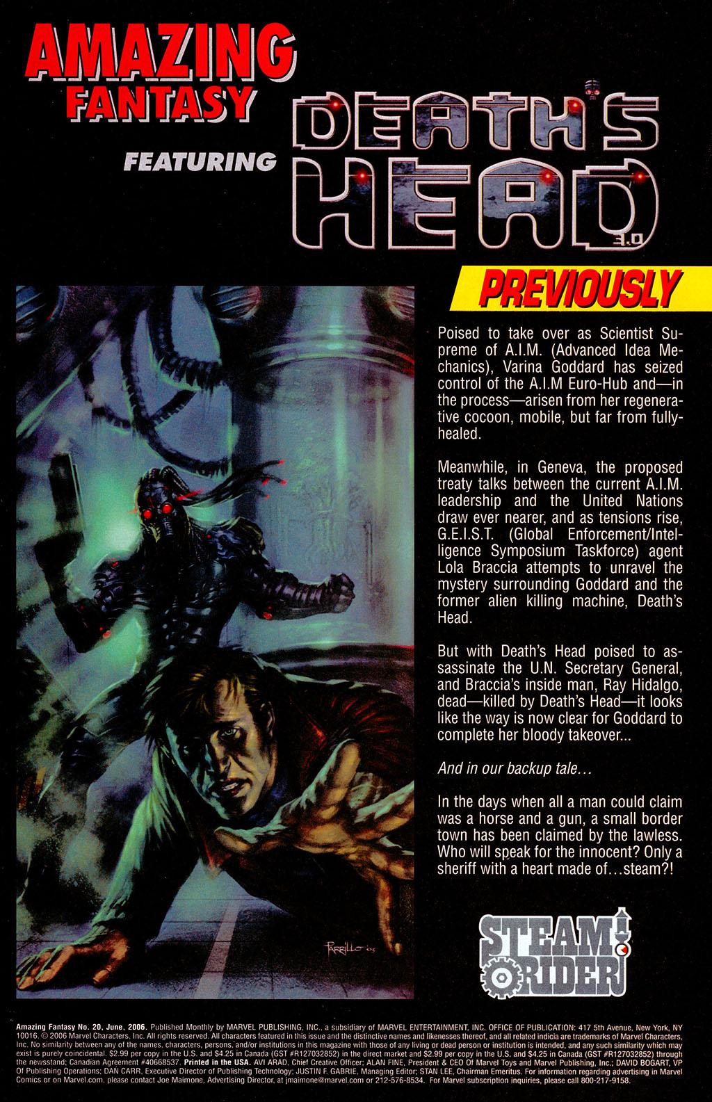 Read online Amazing Fantasy (2004) comic -  Issue #20 - 2