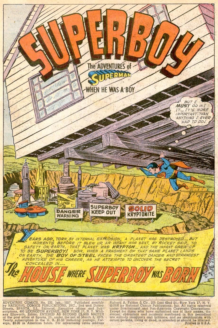Read online Adventure Comics (1938) comic -  Issue #232 - 3