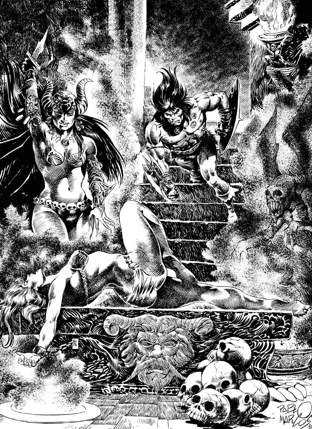 The Savage Sword Of Conan Issue #72 #73 - English 2