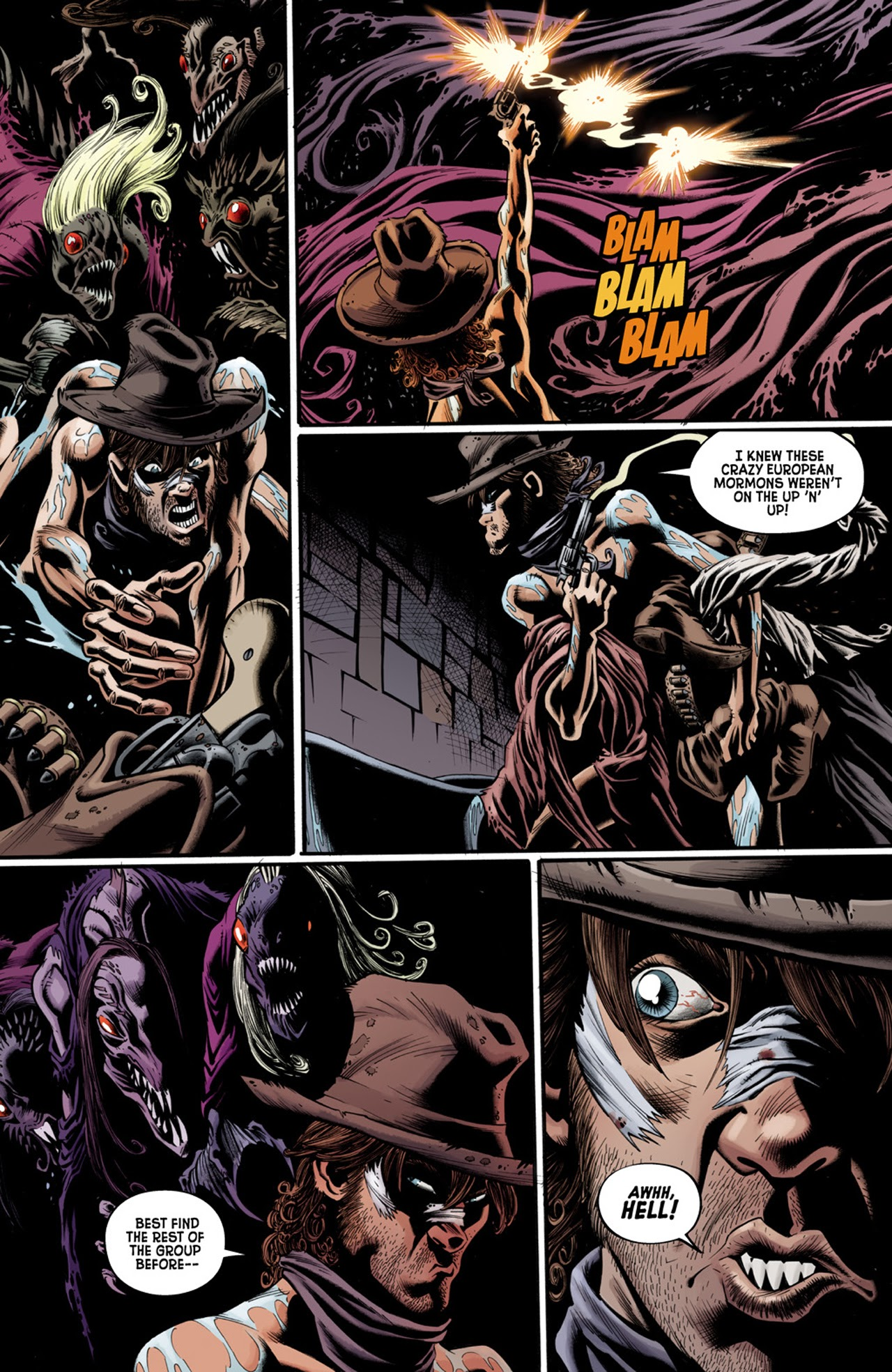 Read online Billy the Kid's Old Timey Oddities and the Orm of Loch Ness comic -  Issue #3 - 7