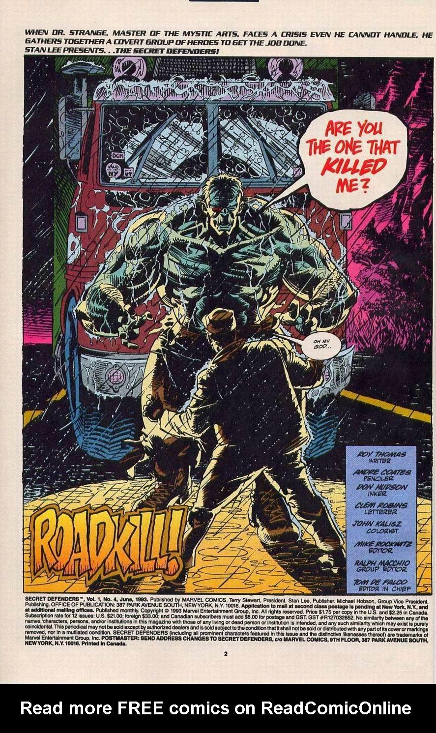 Read online Secret Defenders comic -  Issue #4 - 3
