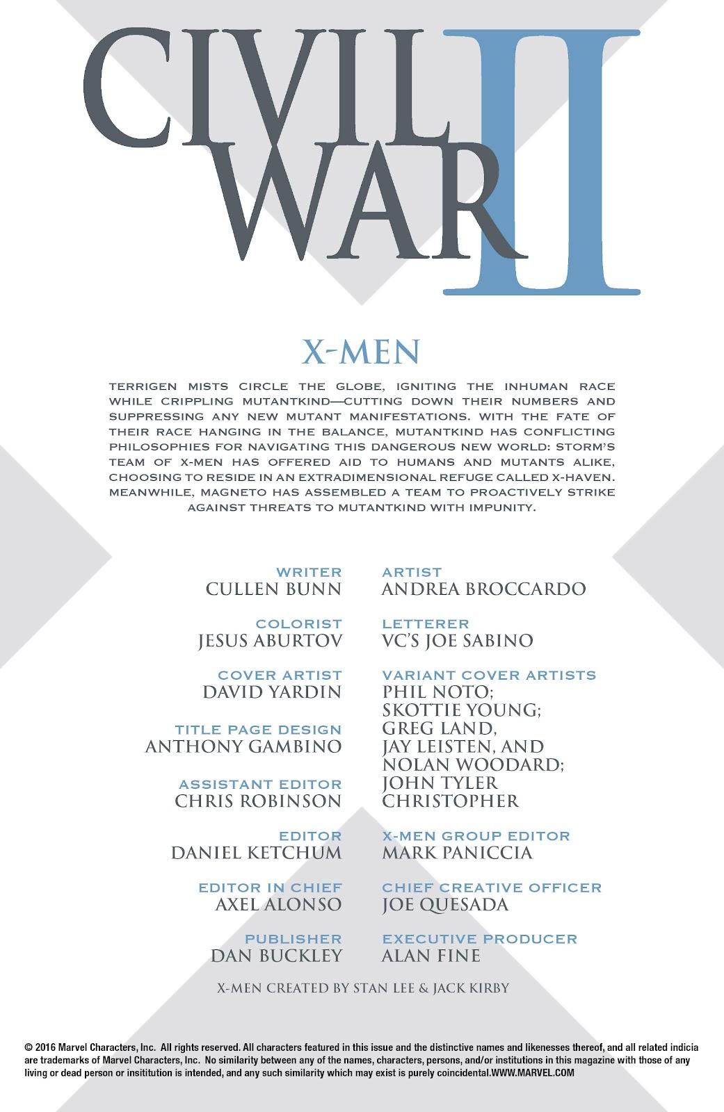 Civil War II: X-Men Issue #1 #1 - English 6