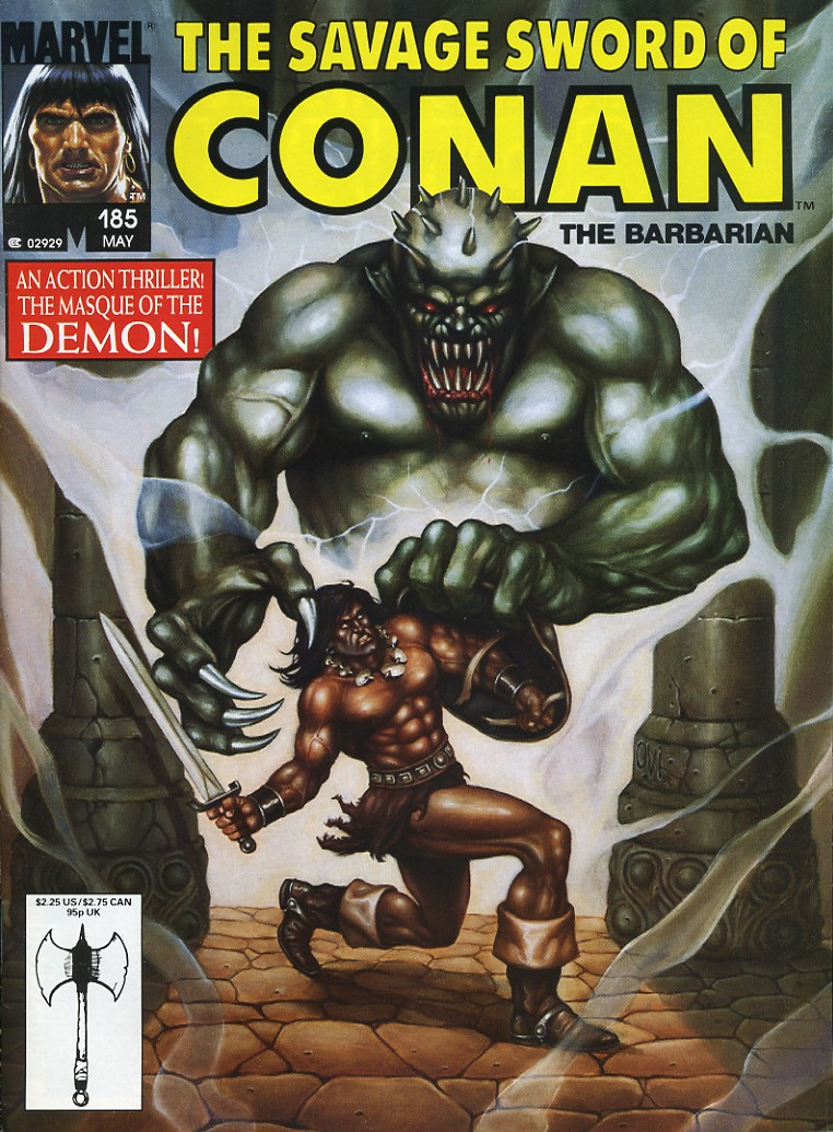 The Savage Sword Of Conan Issue #185 #186 - English 1