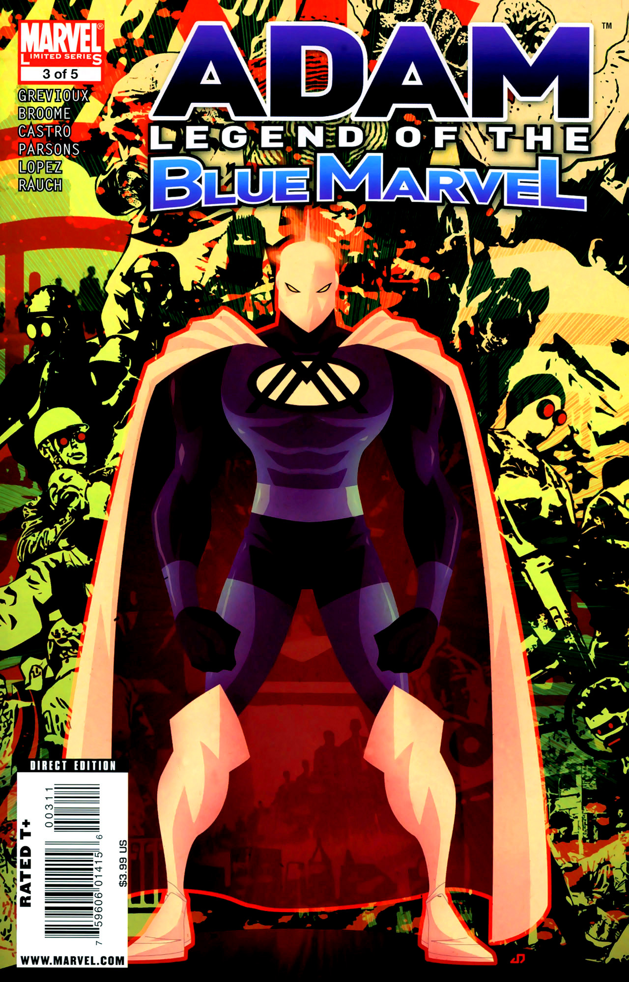 Adam: Legend of the Blue Marvel 3 Page 1