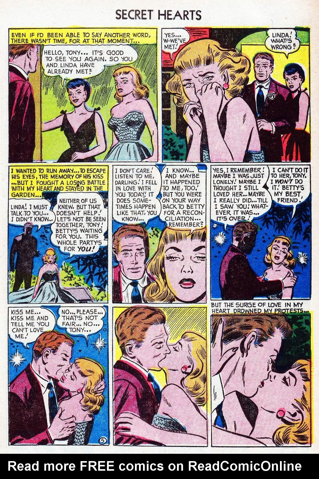 Read online Secret Hearts comic -  Issue #16 - 21