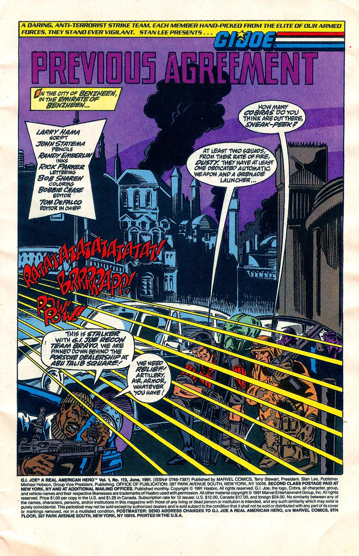 GI Joe A Real American Hero Issue 113