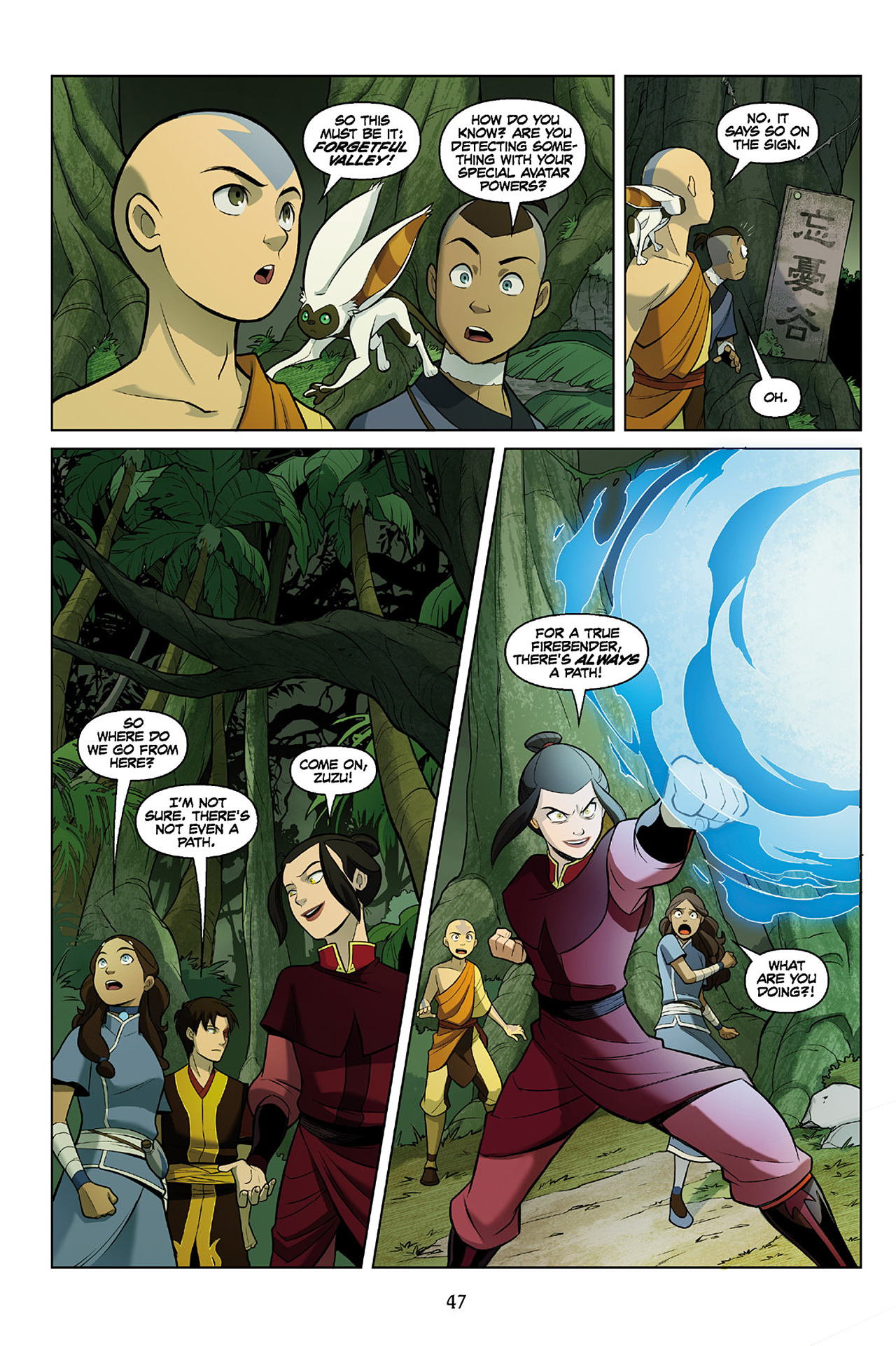 Read online Nickelodeon Avatar: The Last Airbender - The Search comic -  Issue # Part 2 - 48
