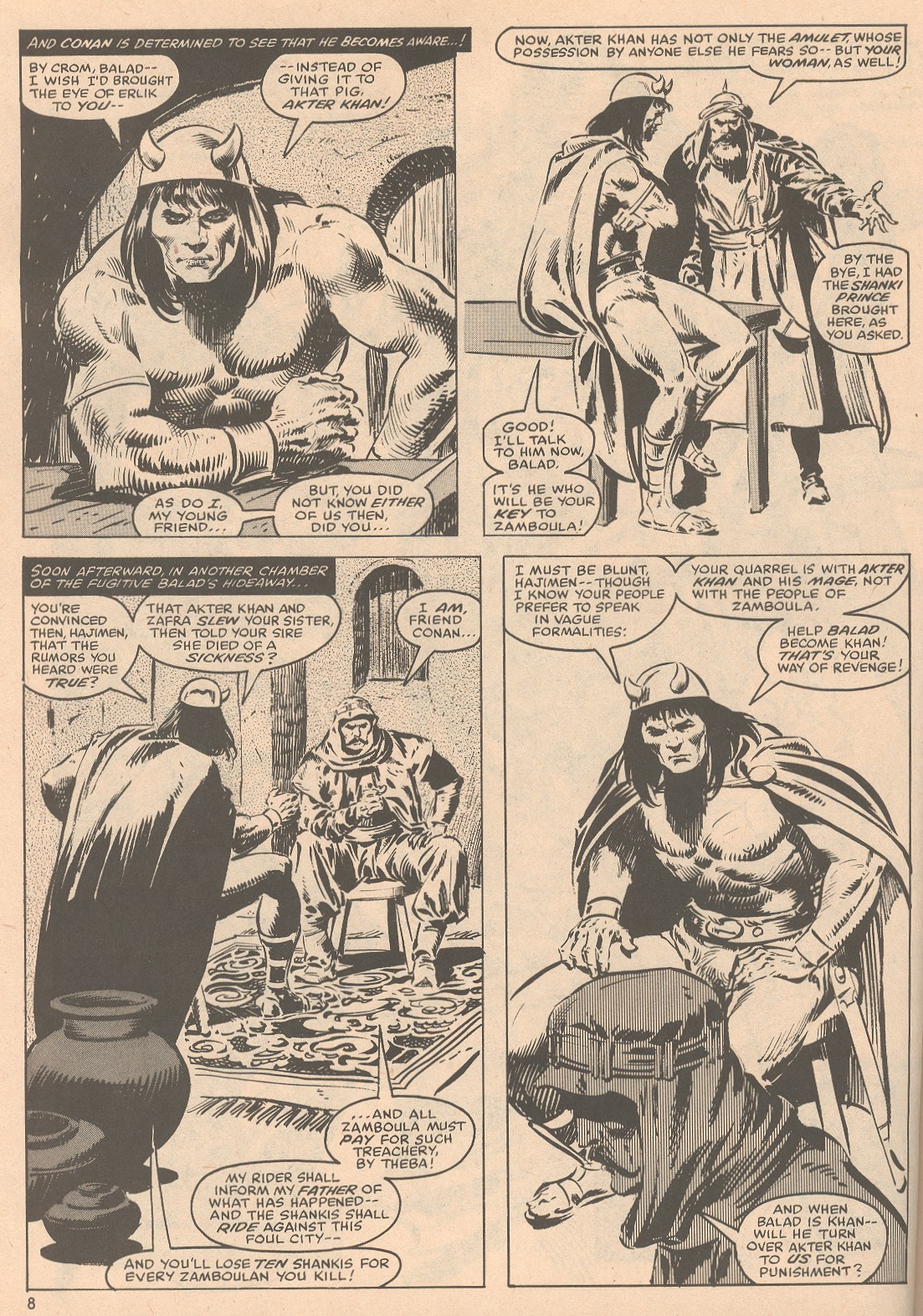 The Savage Sword Of Conan Issue #58 #59 - English 9