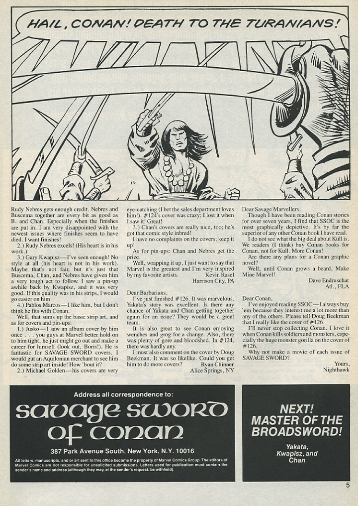 The Savage Sword Of Conan Issue #131 #132 - English 5