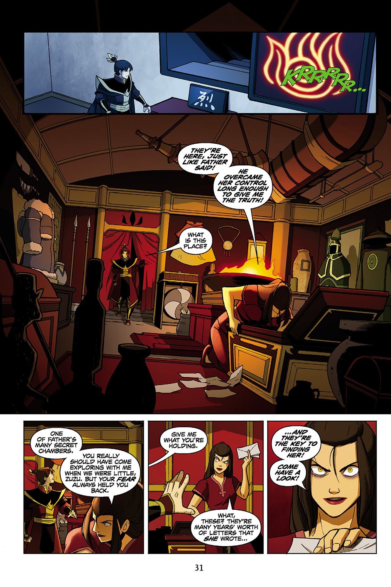 Read online Nickelodeon Avatar: The Last Airbender - The Search comic -  Issue # Part 1 - 32