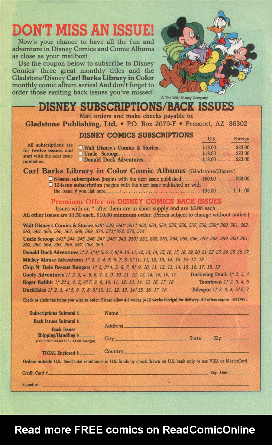 Uncle Scrooge (1953) Issue #276 #276 - English 30