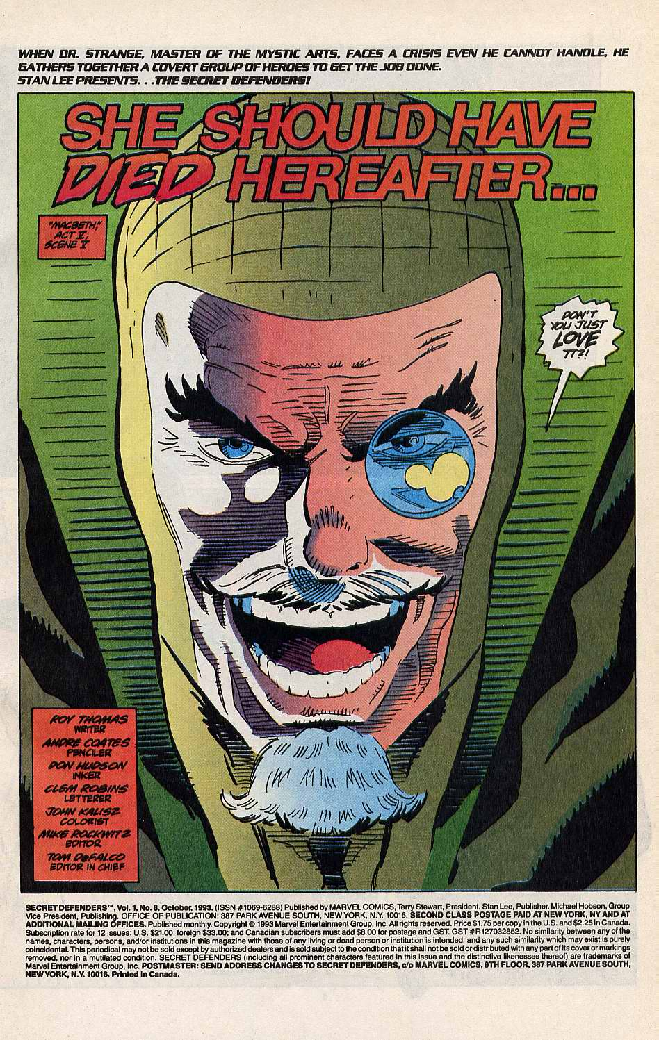 Read online Secret Defenders comic -  Issue #8 - 2