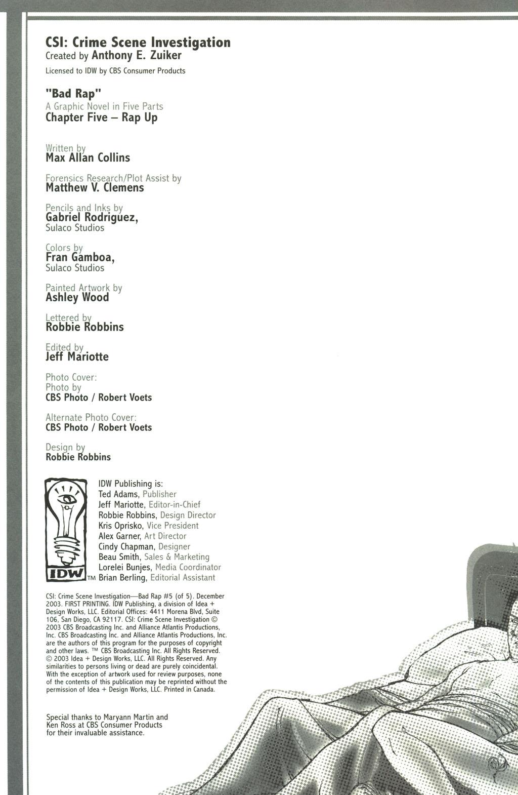 Read online CSI: Crime Scene Investigation: Bad Rap comic -  Issue #5 - 3