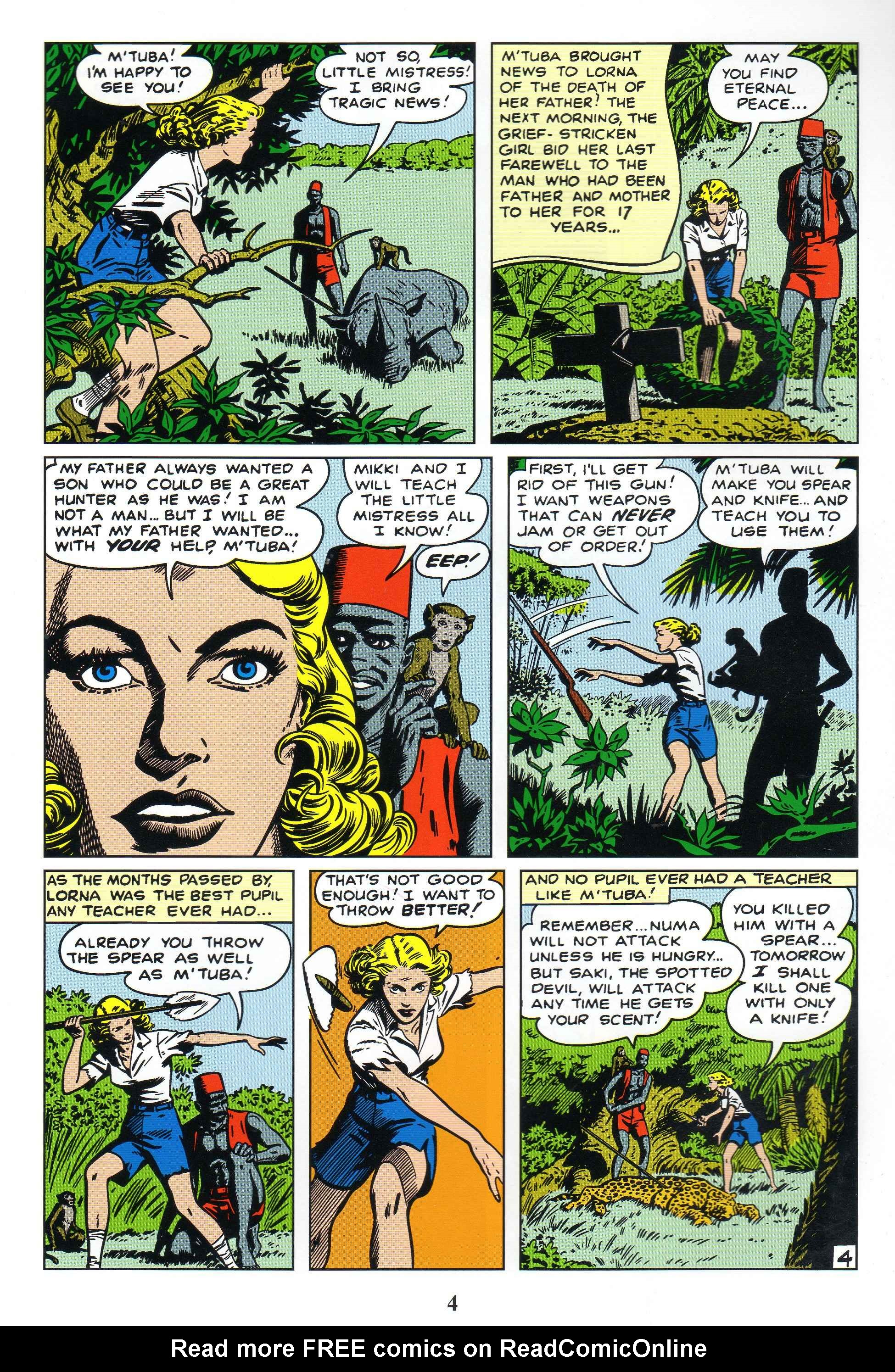 Read online Lorna, The Jungle Queen comic -  Issue #1 - 6