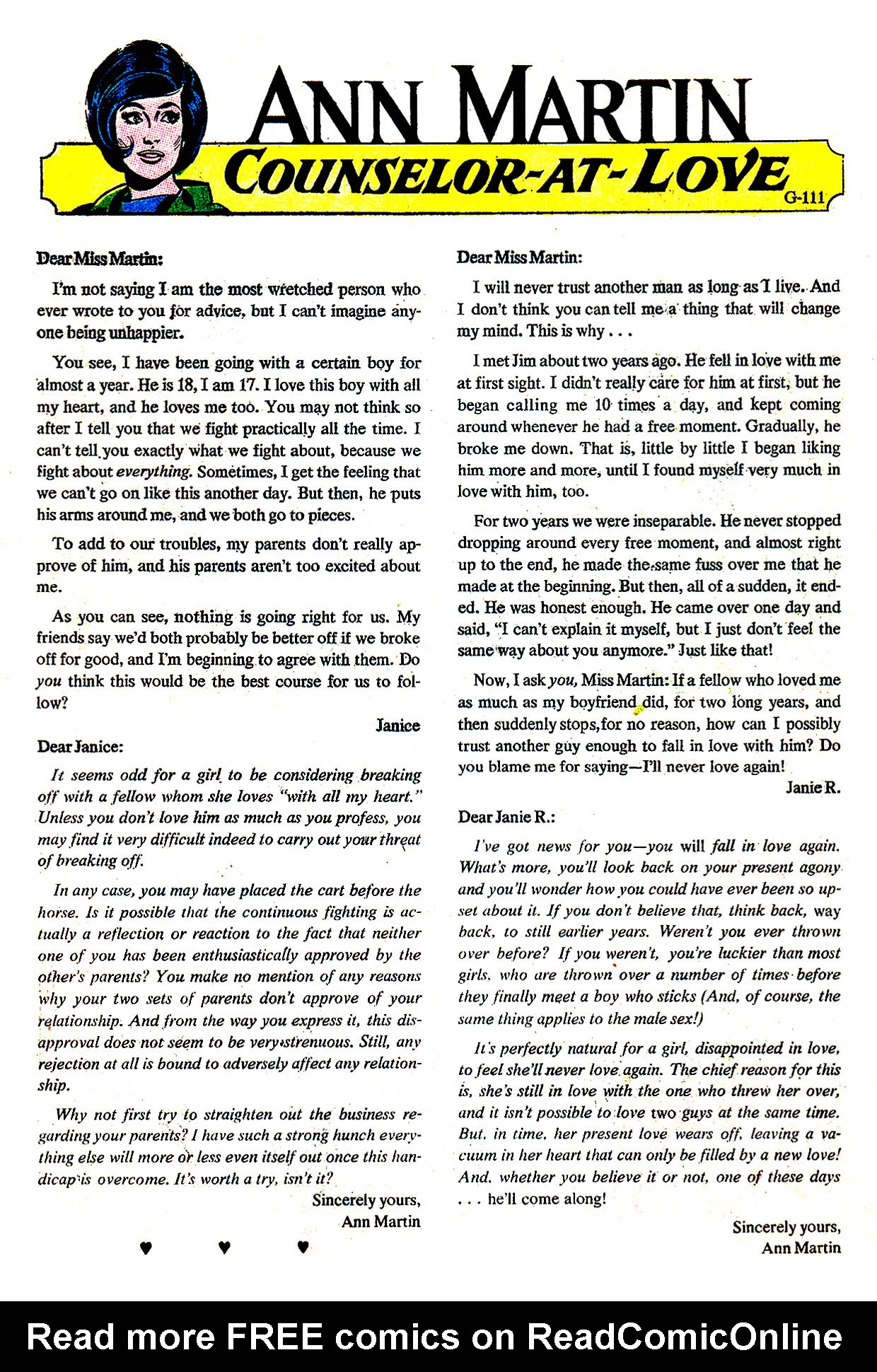 Read online Secret Hearts comic -  Issue #135 - 10