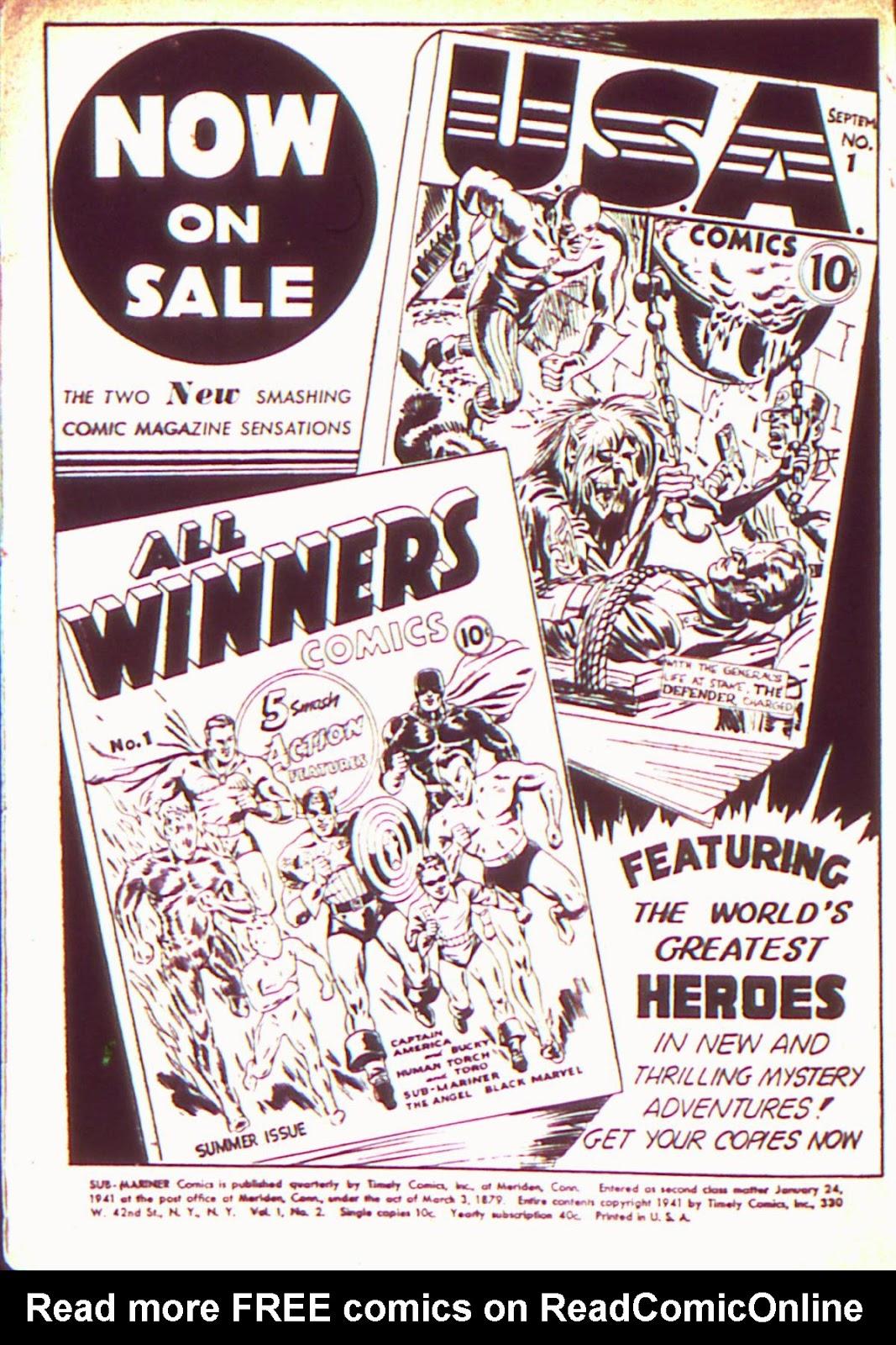 Sub-Mariner Comics Issue #2 #2 - English 2