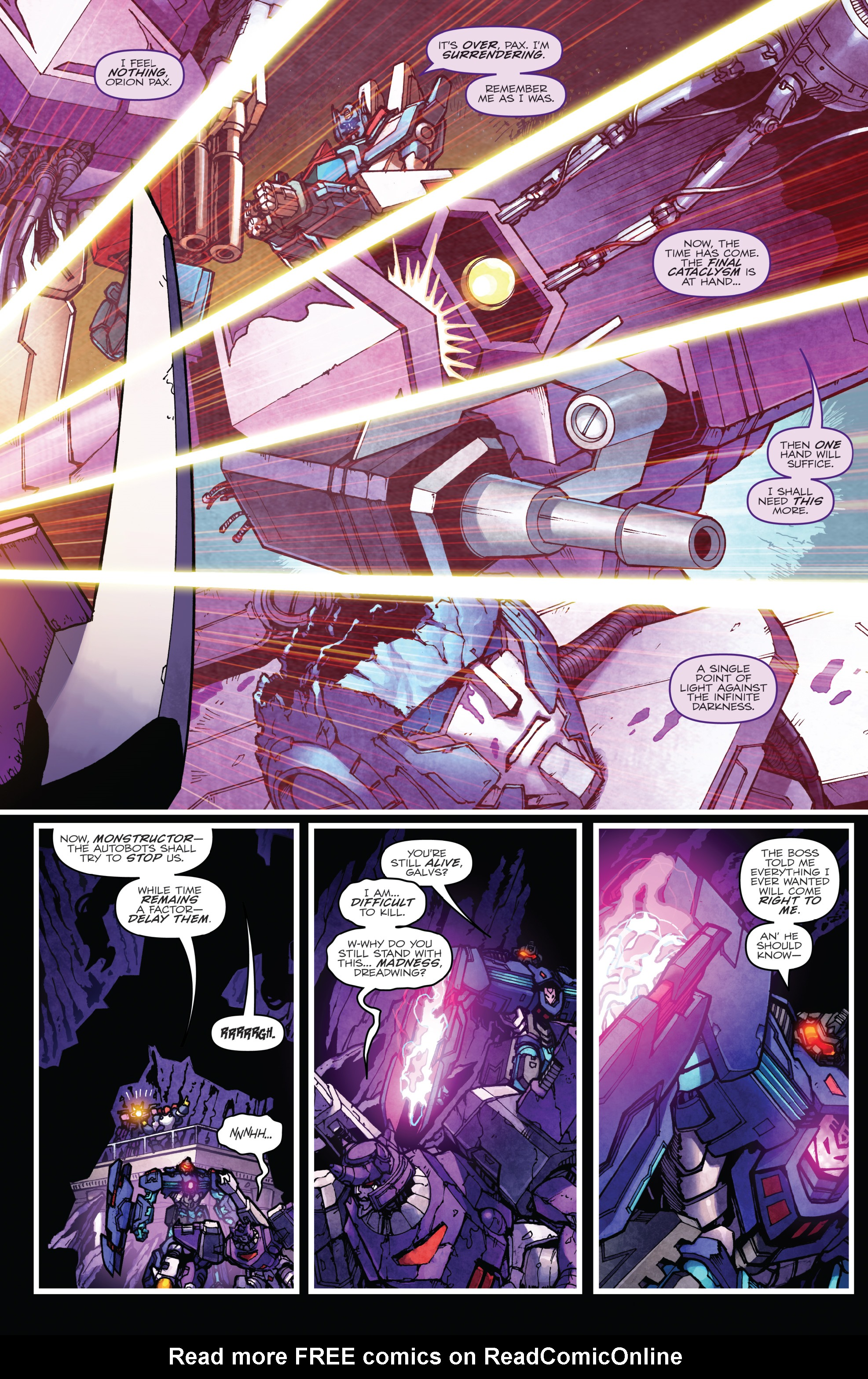 Read online The Transformers: Dark Cybertron Finale comic -  Issue # Full - 108