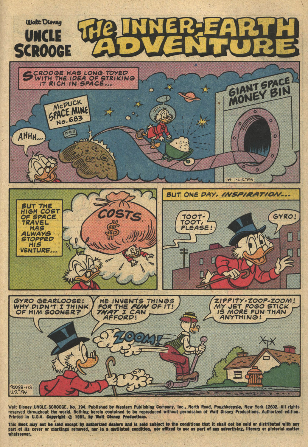 Uncle Scrooge (1953) Issue #194 #194 - English 3
