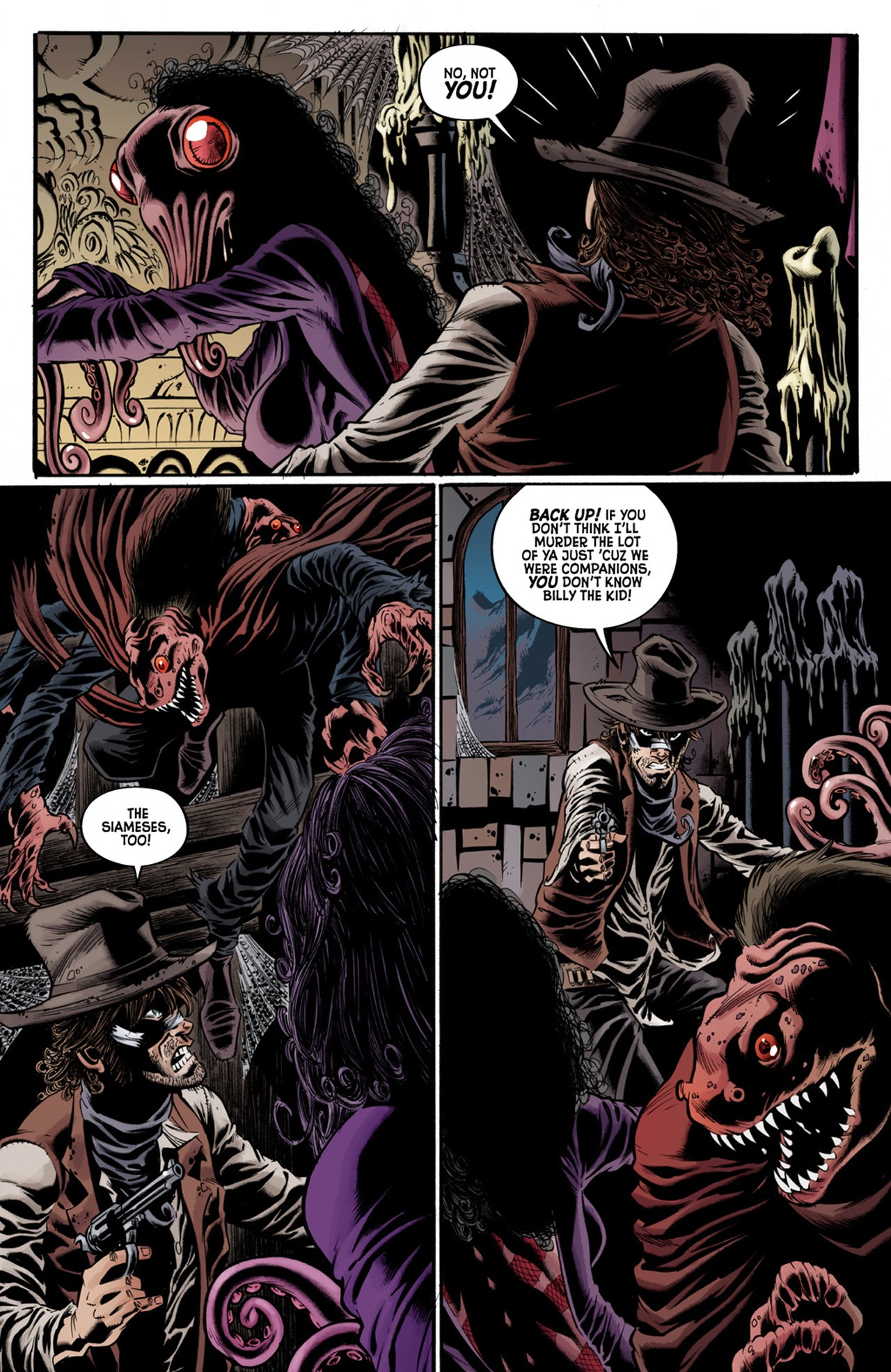 Read online Billy the Kid's Old Timey Oddities and the Orm of Loch Ness comic -  Issue #3 - 9
