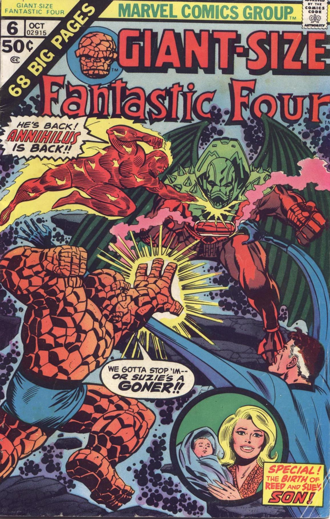 Giant-Size Fantastic Four 6 Page 1