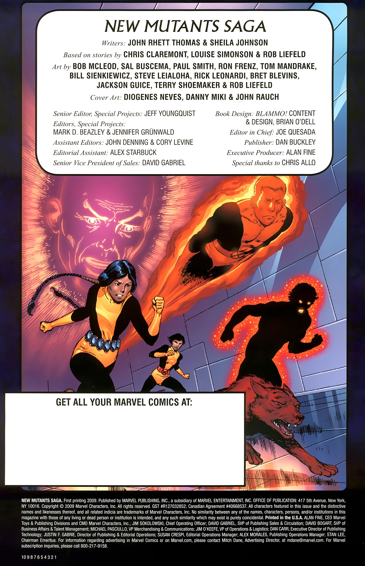 Read online New Mutants Saga comic -  Issue # Full - 2