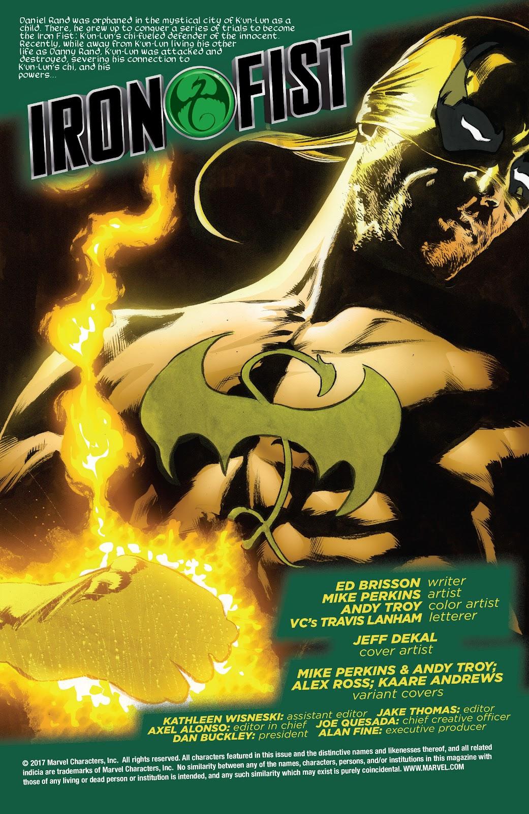 Iron Fist (2017) Issue #1 #1 - English 2