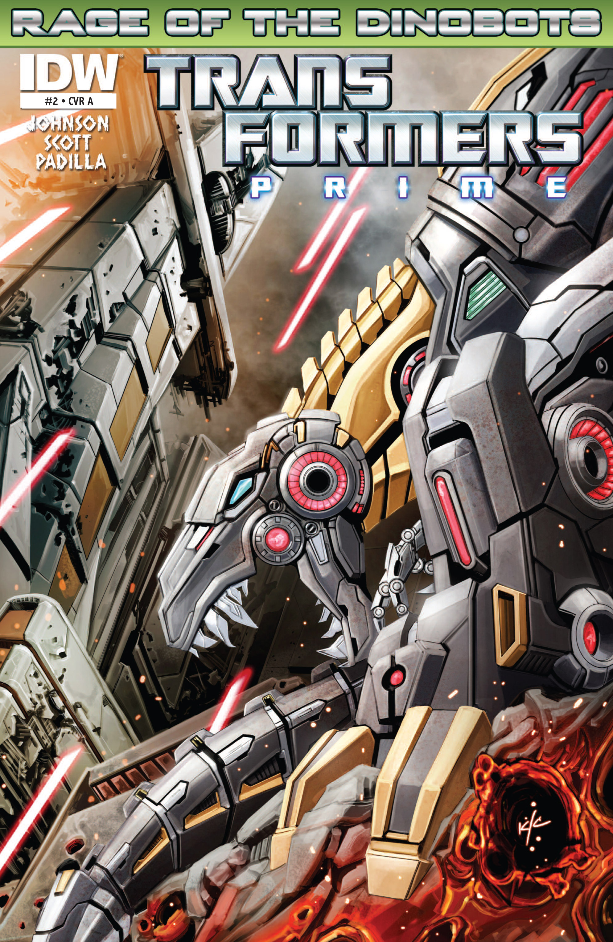 The Transformers Prime: Rage of the Dinobots Issue #2 Page 1