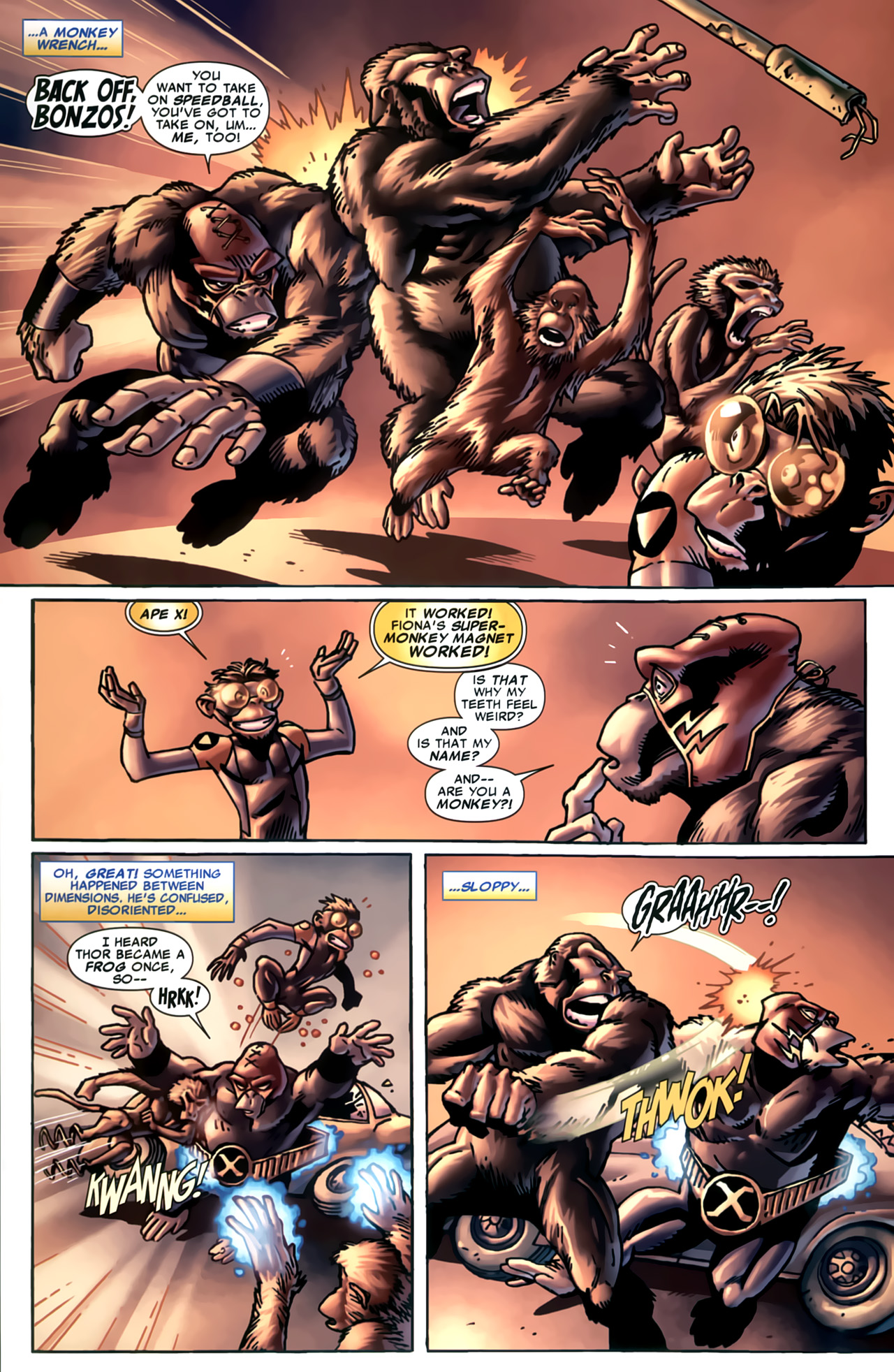 Read online Marvel Apes: Speedball Special comic -  Issue # Full - 22