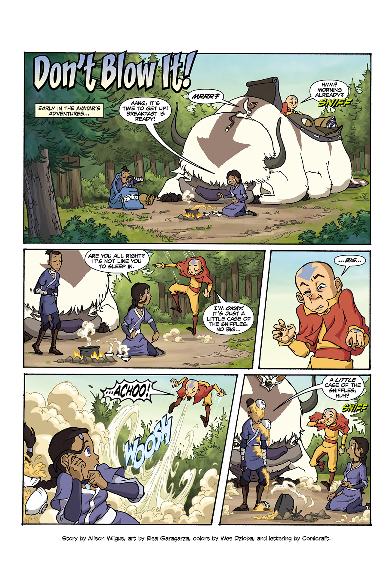 Nickelodeon Avatar: The Last Airbender - The Lost Adventures chap full pic 16