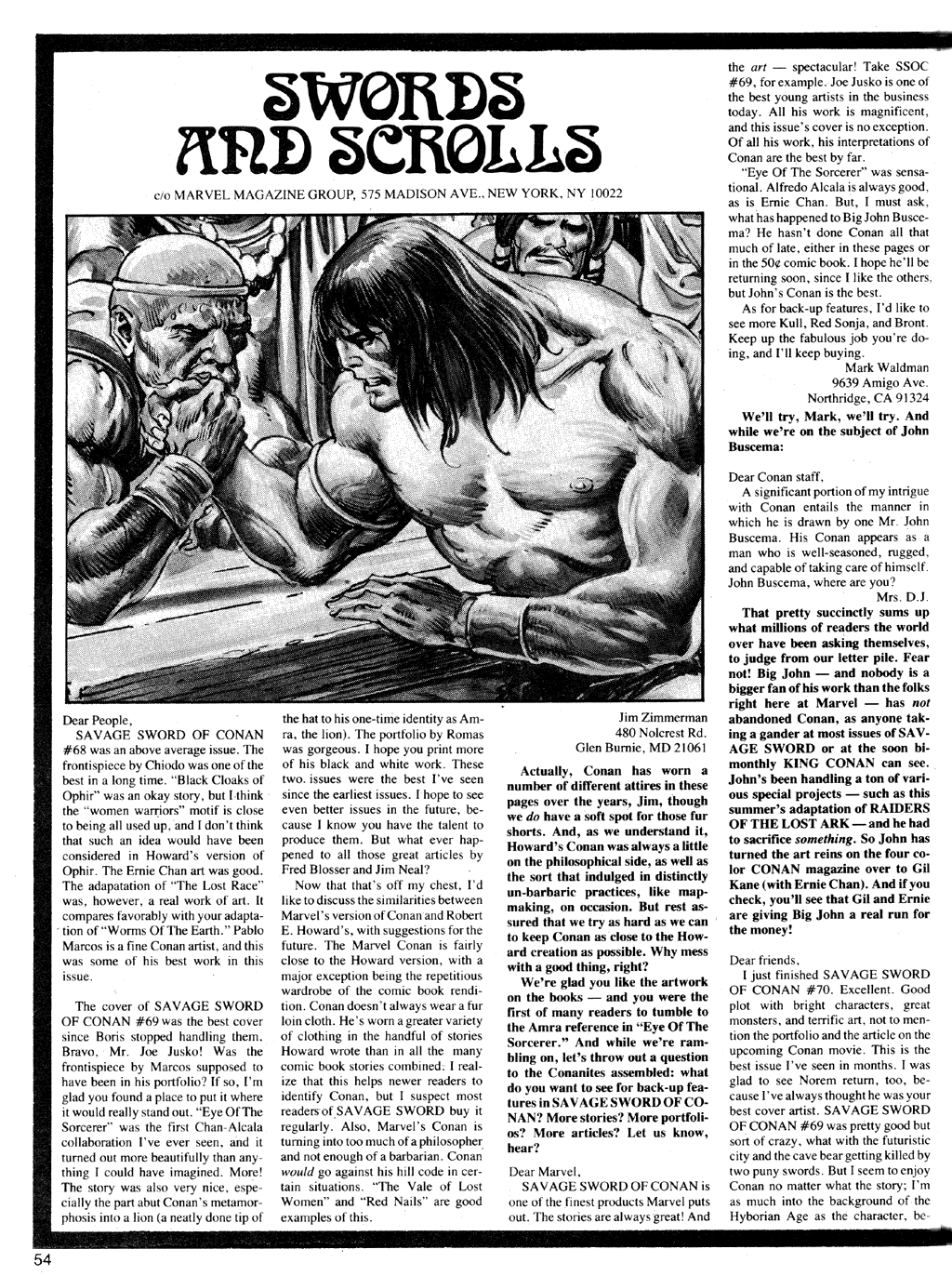 The Savage Sword Of Conan Issue #72 #73 - English 54