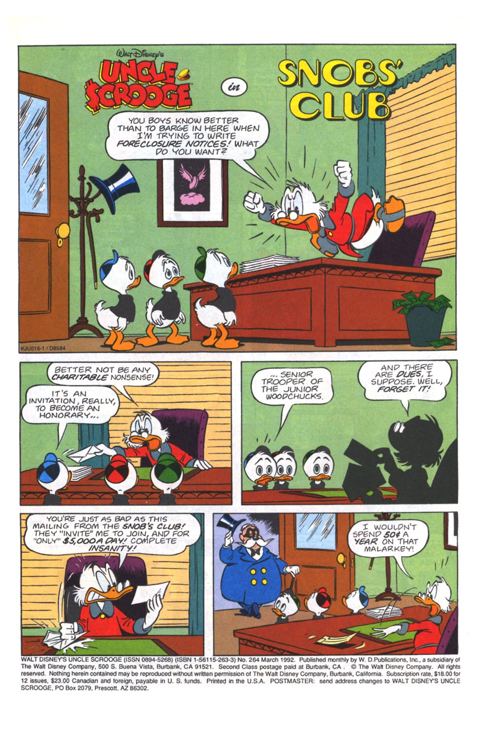 Uncle Scrooge (1953) Issue #264 #264 - English 2