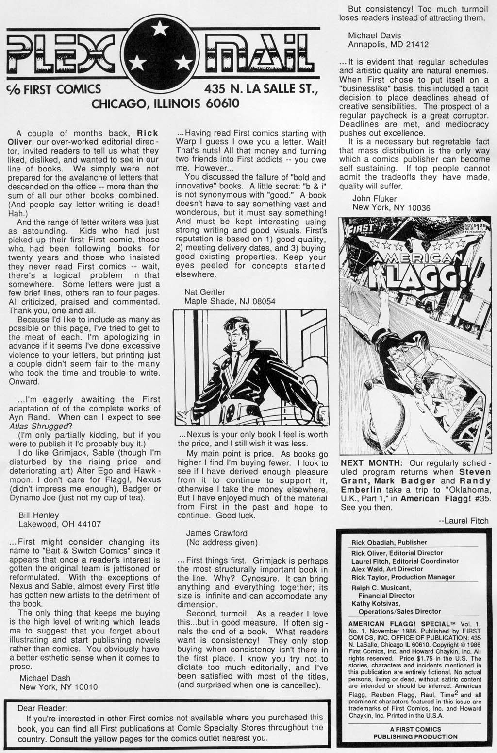 American Flagg! _Special_1 Page 1