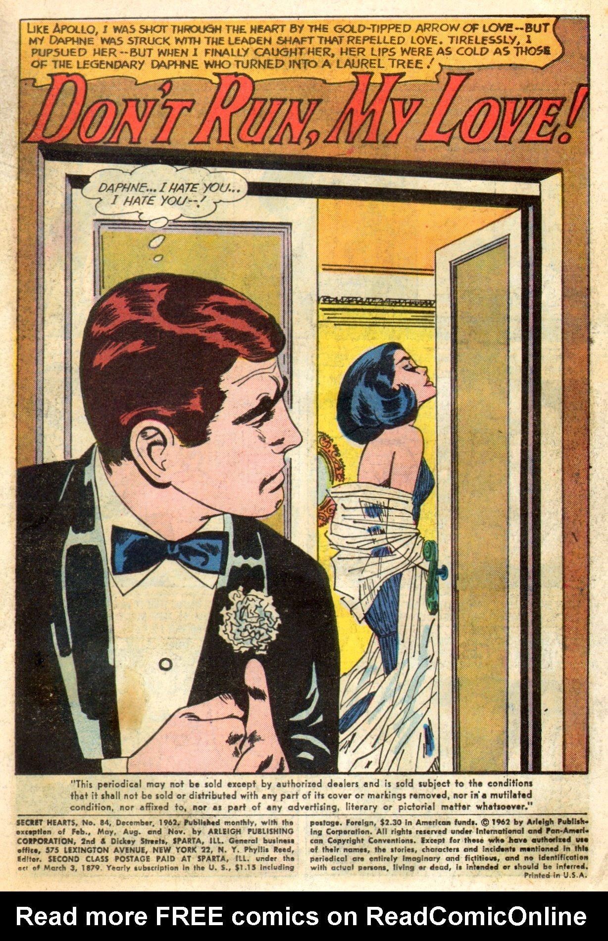 Read online Secret Hearts comic -  Issue #84 - 3